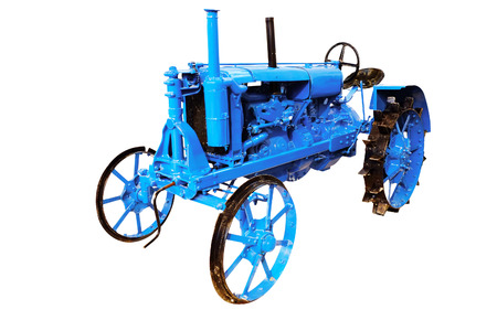 wheeled tractor: Tractor isolated under the white