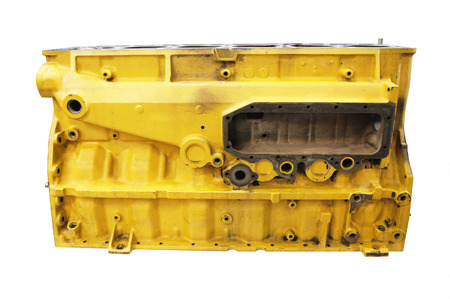 cylinder block: The image of cylinder block of truck engine         Stock Photo