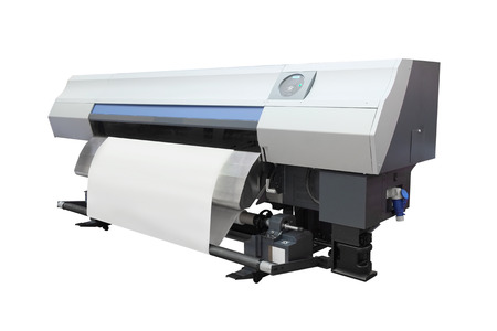 digital printing: The image of a professional printing machine