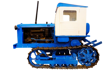 maneuverability: Tractor isolated under the white