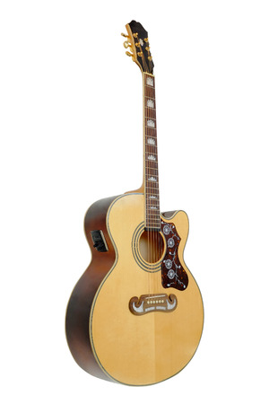 白の下で分離されたギター