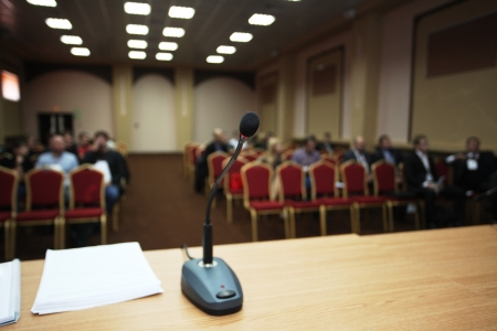 The image of a conference hall