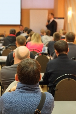 Meeting in a conference hall. Stock Photo - 24111363