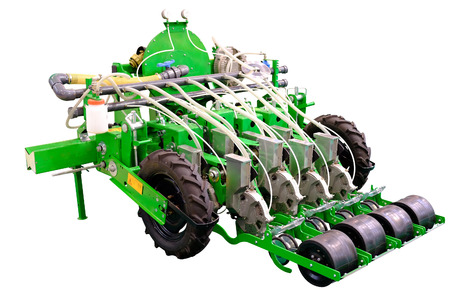 agricultural implements: The image of agricultural machine under the white
