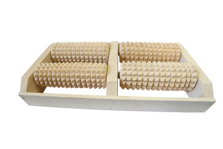 Foot massage wooden tool Stock Photo - 25196167