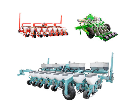 agricultural implements: The image of agricultural machine under the white background