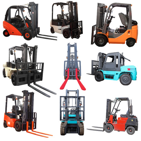 Loaders isolated under the white background