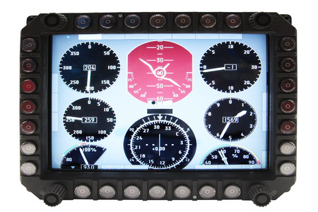 altimeter: aviation navigation devices isolated under the white