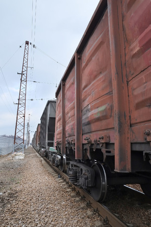 goods train: The image of a goods train