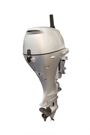 power boat: boat engine under the white background