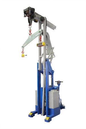 The image of industrial magnet crane  Stock Photo