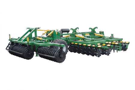 The image of agricultural machine under the white background