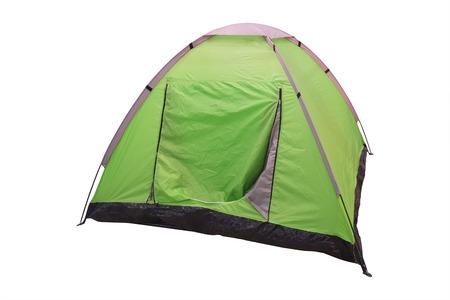 白い背景の下でテントのイメージ 写真素材