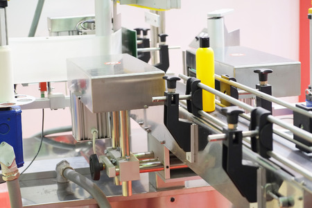The image of industrial labeling equipment