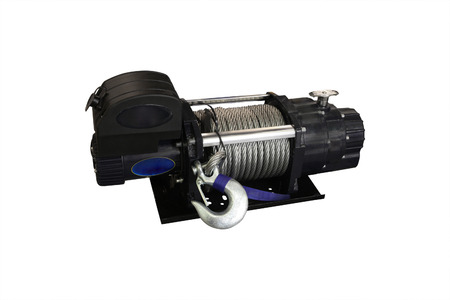 windlass: the image of a close up of a winch Stock Photo
