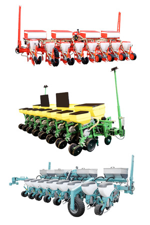 implements: The image of agricultural machine under the white background