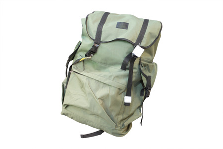 tenager: pupils bag under the white background