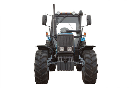 wheeled tractor: wheeled tractor under the white background