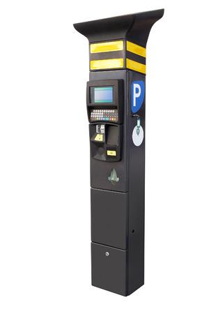 the image of Electronic parking machine photo