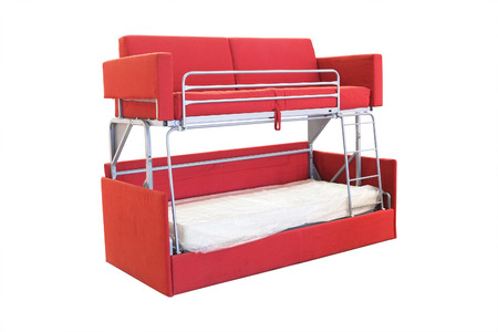 bunk: bunk bed under the white background