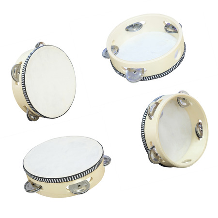 The image of tambourine isolated under the white background photo