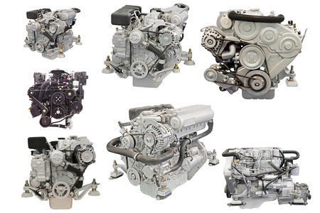 motor coche: La imagen de un motor en el fondo blanco Foto de archivo