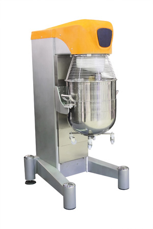 semimanufactures: industrial dough mixer under the white background Stock Photo