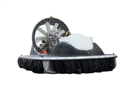 the image of a boat on an air cushion photo
