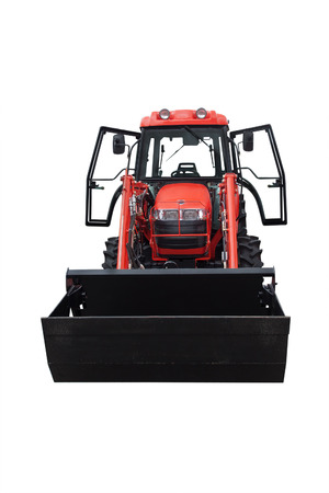 wheeled tractor under the white background photo