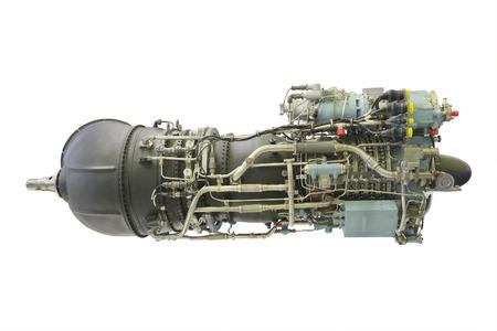 aero generator: turbo jet engine under the white background