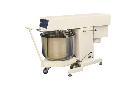 industrial dough mixer under the white background Stock Photo