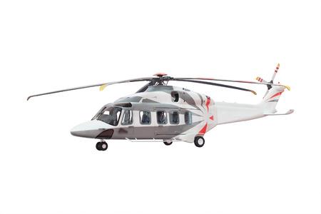 aero generator: helicopter isolated under the white background