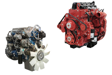 diesel: The image of an engine under the white background