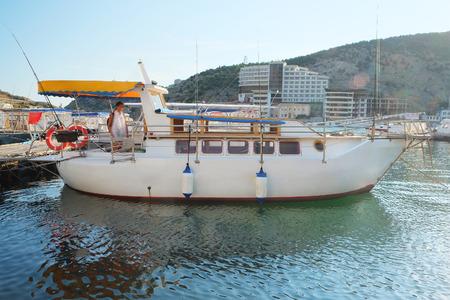 berth: yacht stand at a berth