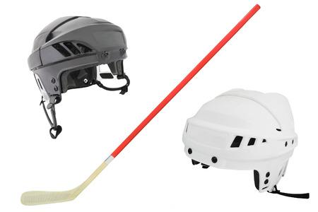 hockey helmet under the white background photo