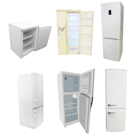 refrigerate: The image of refrigerators under the white background