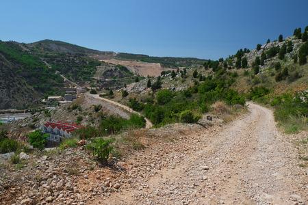 lacet: Mountain landscape with lacet