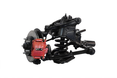 Car suspension isolated under the white background photo