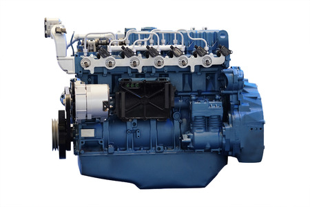 The image of an engine isolated under the white background Stock Photo