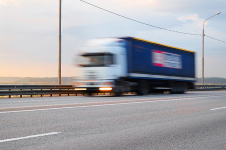 the image of a  truck in movement
