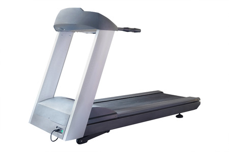 treadmill: The image of treadmill isolated under the white background