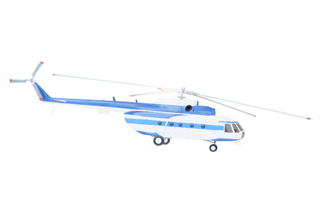 are thrust: helicopter under the white background Stock Photo