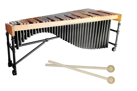 The image of a xylophone under a white background Stock Photo