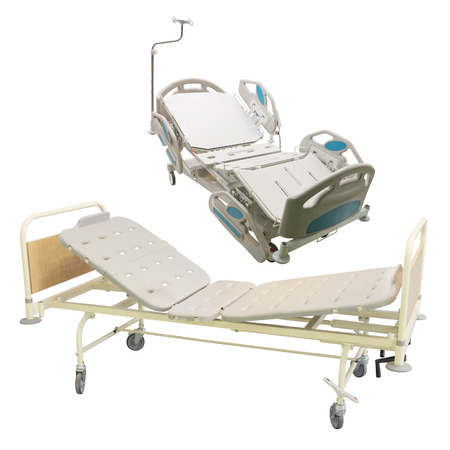 spetial: medical bed under the white background