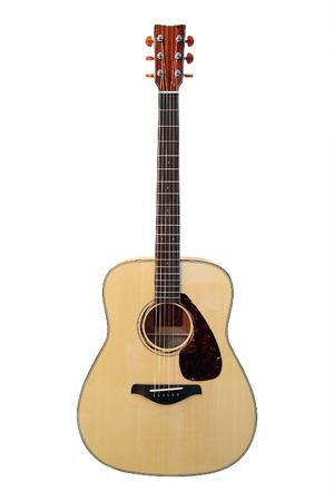 Bild einer Gitarre unter einem weißen Hintergrund
