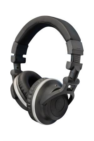 handsfree telephones: headphones isolated under the light background Stock Photo