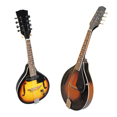 mandolin: mandolin isolated under the white background Stock Photo
