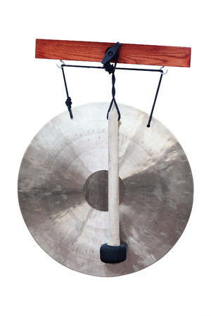 exotic gleam: gong under the white background