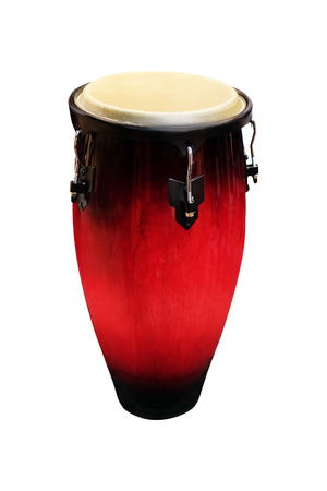 hand jamming: image of ethnic african drum under the white background