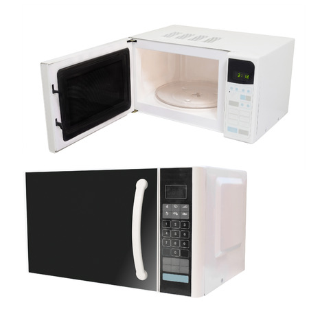 defrost: The image of microwave oven under the white background
